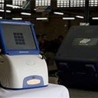 Máquina de votación El voto se inserta, se suma, p…